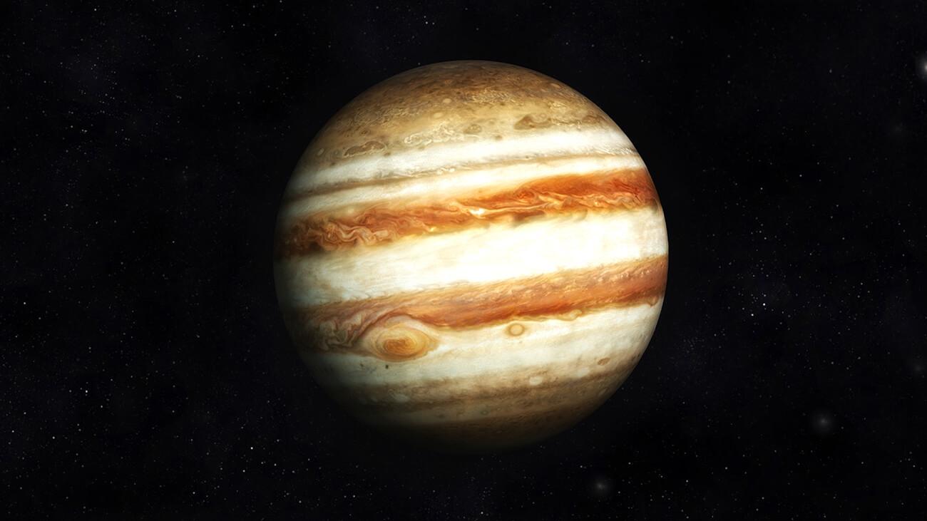 Digital Illustration of Planet Jupiter