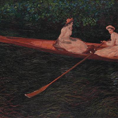 A canoa sobre o Epte, Claude Monet