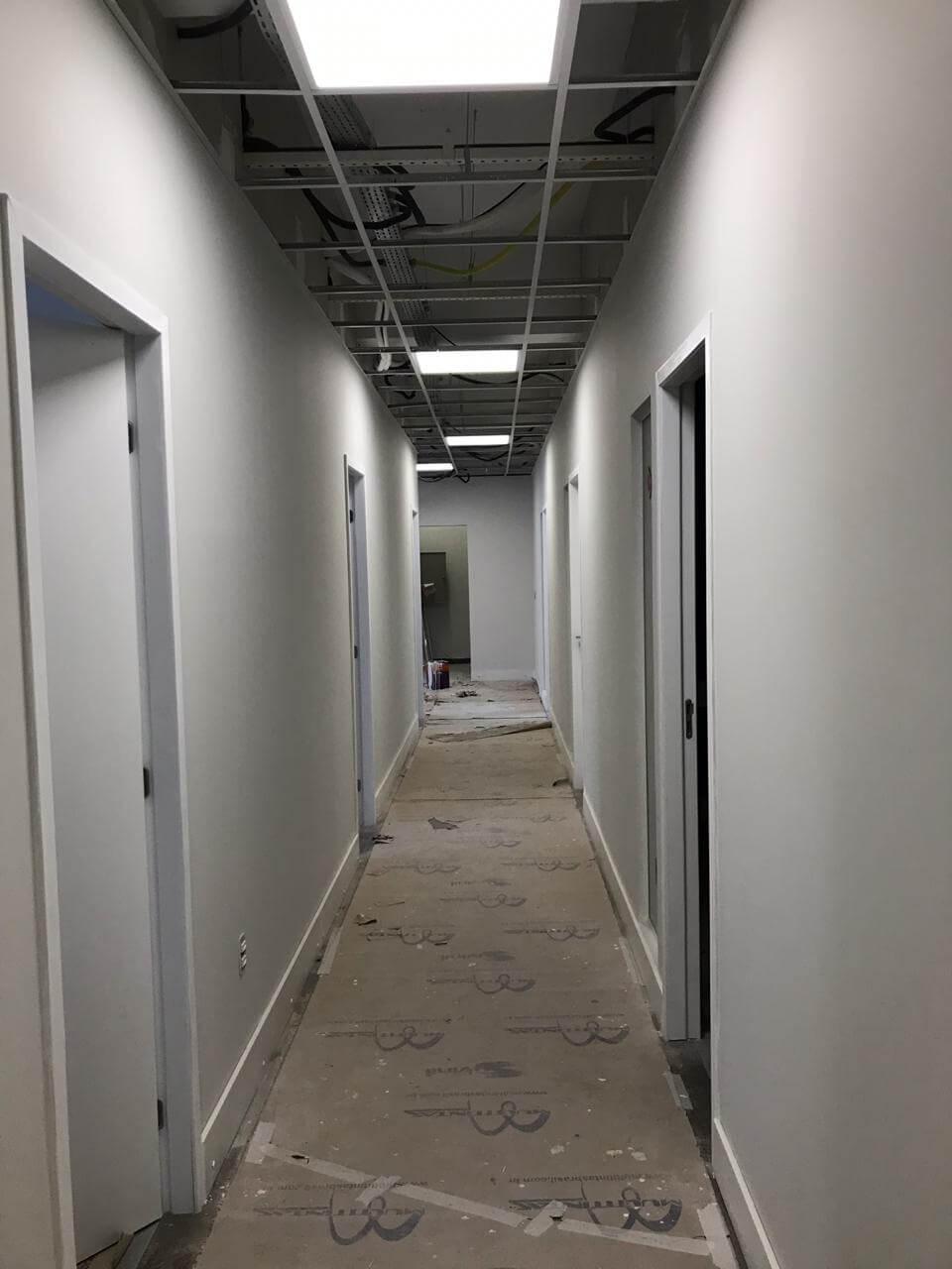 Novas instalações da unidade antes da inauguração