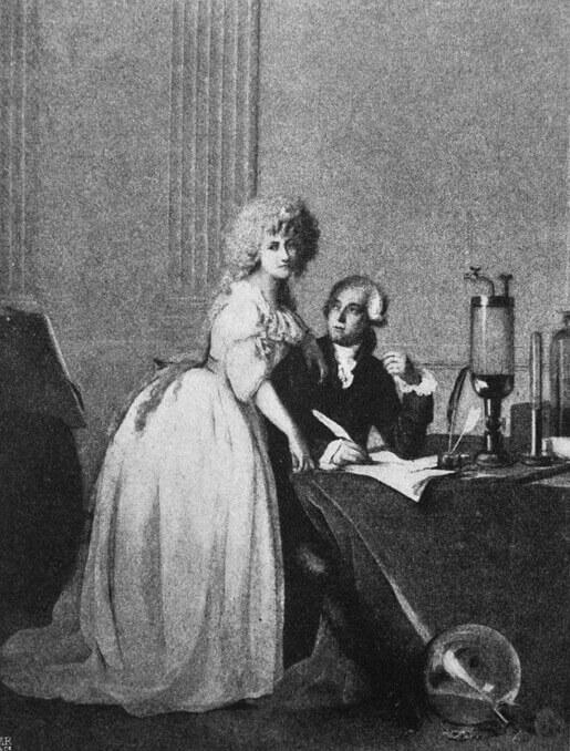 Lavoisier e sua esposa Marie Paulze